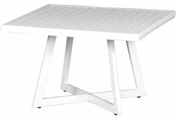 Siena Garden Alexis Lounge Tisch Ø 70x55 cm rechteckig weiß