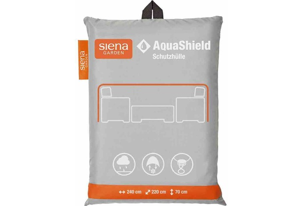 Siena Garden AquaShield Loungehülle 240x220xH70cm hellgrau