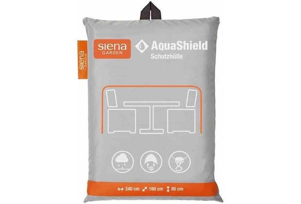 Siena Garden AquaShield Sitzgruppenhülle 240x160xH85cm hellgrau