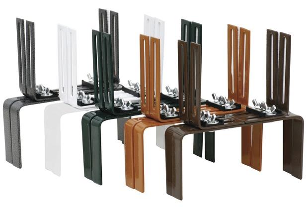 siena garden blumenkastenhalter h form gr n f r. Black Bedroom Furniture Sets. Home Design Ideas