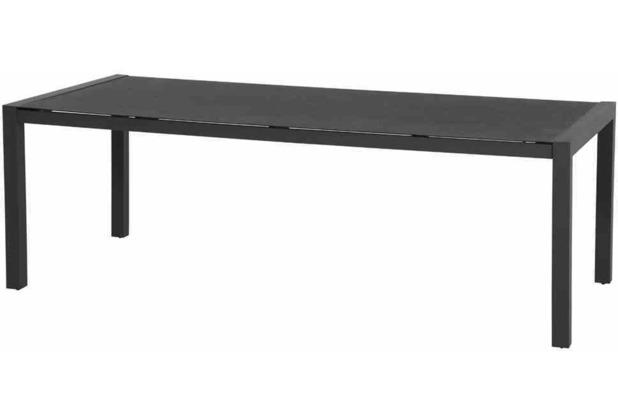 Siena Garden Cabano Dining Tisch 220x100x74,5 cm Gestell Aluminium matt-anthrazit, Tischplatte Spraystone anthrazit