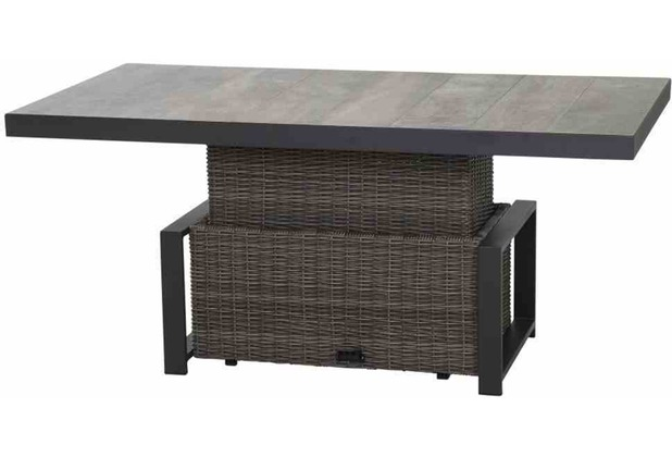 Siena Garden Corido Lifttisch 160x90x47/71 cm Gestell Aluminium matt-anthrazit, Tischplatte Keramik grey