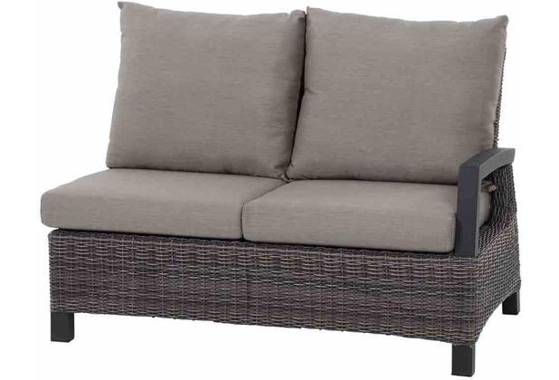 Siena Garden Corido Modul 2-Sitzer Gestell Alu matt-anthrazit, Gardino®-Geflecht charcoal grey, Lehne links