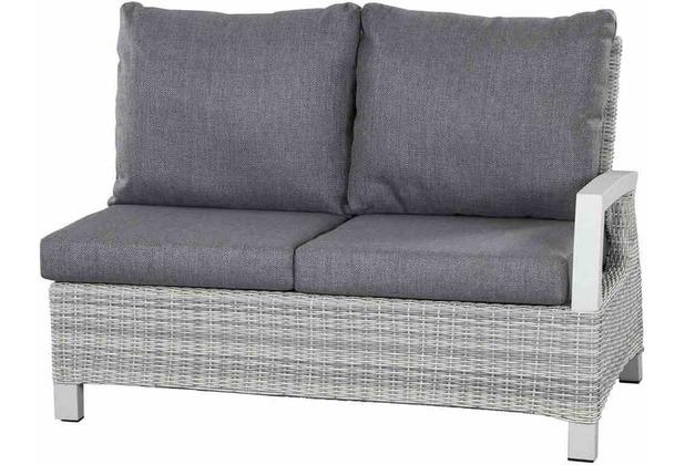 Siena Garden Corido Modul 2-Sitzer Gestell Alu matt-weiß-grau, Gardino®-Geflecht ice grey, Lehne links