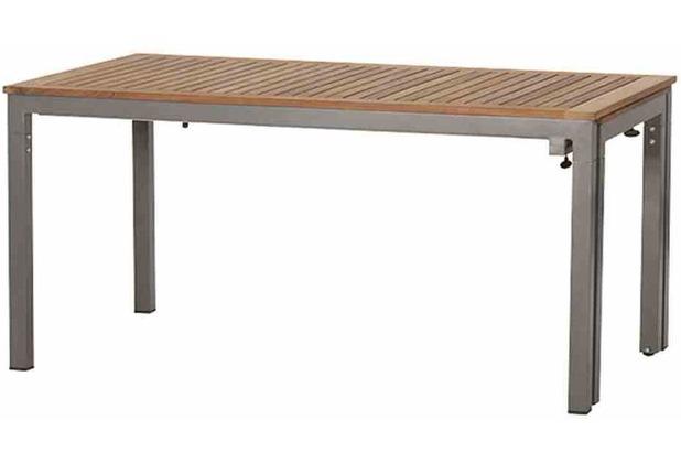 Siena Garden Geneva Ausziehtisch 160/260 x 90cm Gestell Aluminium graphit, Tischplatte Teak FSC 100%