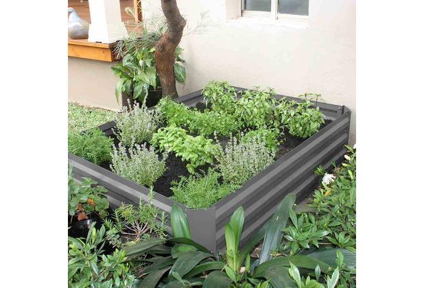 Siena Garden Hochbeet 120x90x30cm grau