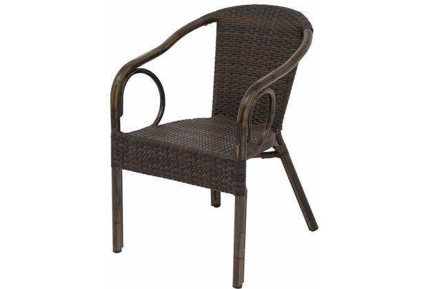 siena garden kenora stapelsessel mocca alu bambusoptik. Black Bedroom Furniture Sets. Home Design Ideas