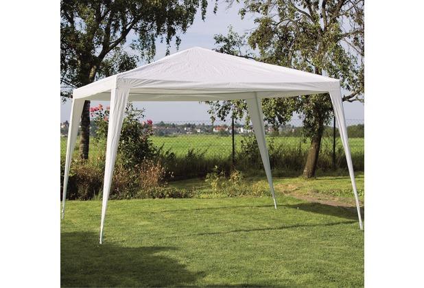 Siena Garden Pavillon Sahara, Stahlrohrgestell weiß, Polyester-Bezug weiß, L 300 x B 300 x H 270 cm