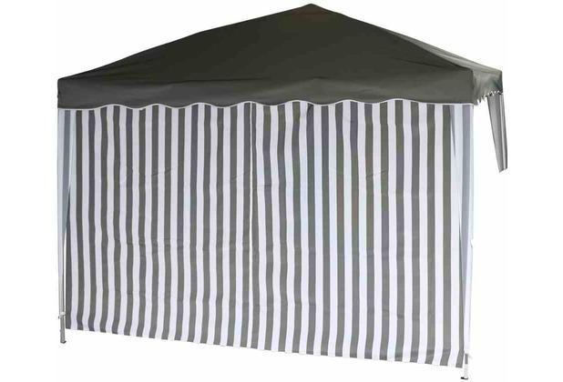 Siena Garden Seitenteil.Faltpav.gra/ws 1x mit u. 1x ohne Fenster grau/weiß
