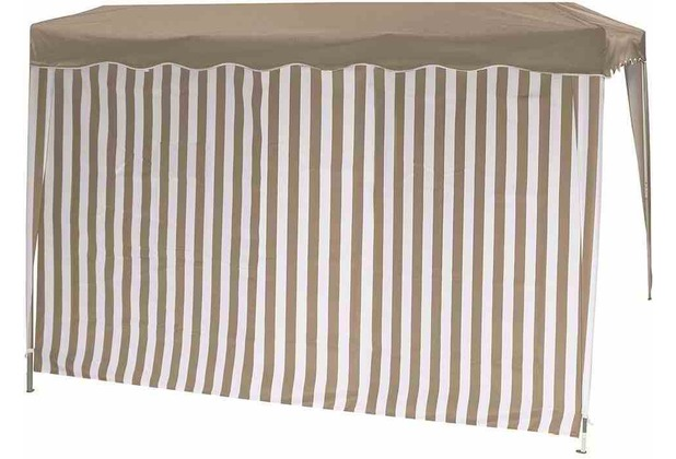 Siena Garden Seitenteile Faltpav.tp/ws 1x mit u. 1x ohne Fenster taupe/weiß