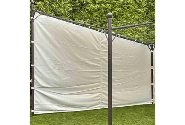 """Siena Garden Seitenteile zu Pavillon \""""Berlino\"""" 4x4 100% Polyester weiß/2 Stück"""