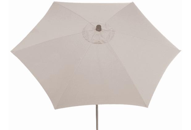 Siena Garden Sonnenschirm Push Up, Gestell: silber, Polyester: natur, Ø 300 cm