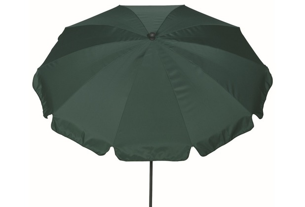 Siena Garden Sonnenschirm Tropico, grün, Gestell: anthrazit, Polyester grün, UV+50, Ø250cm