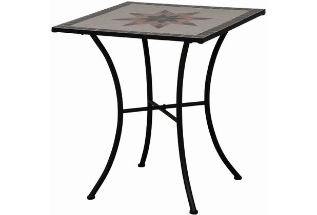 Siena Garden Tisch Stella Gestell Schwarz Tischplatte In Mosaik