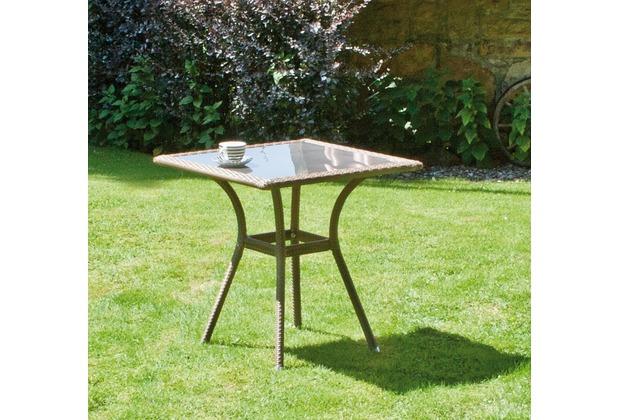 siena garden tisch wien aluminium untergestell gardino geflecht sand glasplatte braun l 70. Black Bedroom Furniture Sets. Home Design Ideas