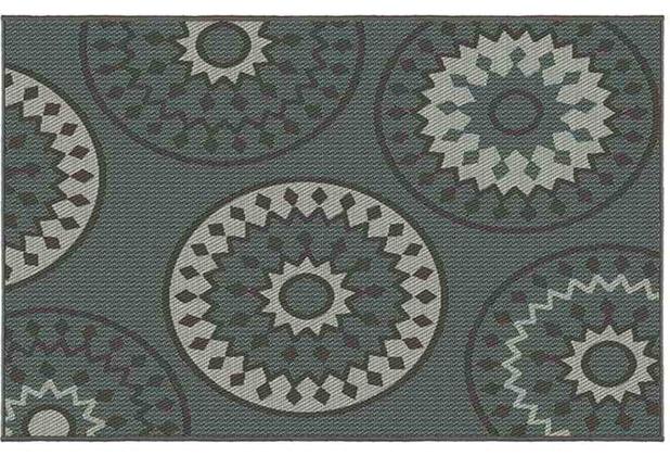 Siena Garden Tullibole Outdoor-Teppich, 2er-Set 213x160 & 112x80 cm blau