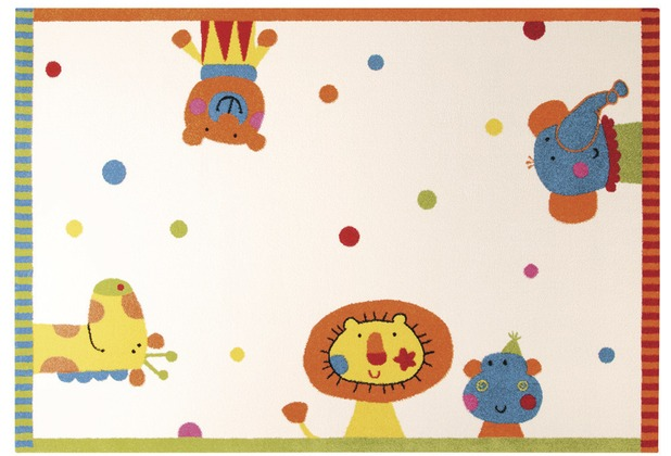 Sigikid Kinderteppich Animal Festival SK-0525-01 weiss 120 x 170 cm