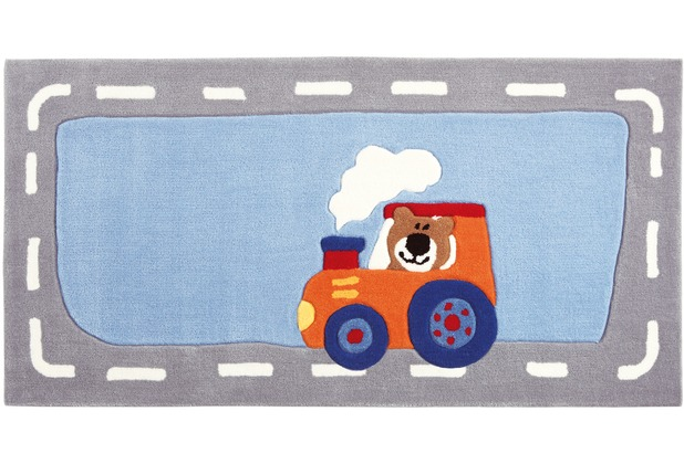 Sigikid Kinderteppich Happy Street Traffic SK-3346-01kl blau 70 x 140 cm