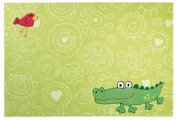 Sigikid Kinderteppich Happy Zoo Crocodile SK-3341-01 grün 70 x 140 cm