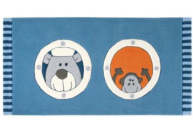 Sigikid Kinderteppich Olaf Laola Ahoi SK-3344-01kl blau 70 x 140 cm