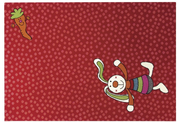 Sigikid Kinderteppich Rainbow Rabbit SK-0523-02 rot 120 x 170 cm