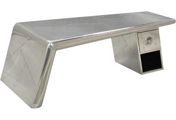 SIT AIRMAN Couchtisch Metall, silber silber