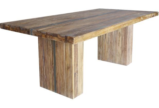 SIT-Möbel BANDA Tisch 240x100 cm mit Eisenband natur