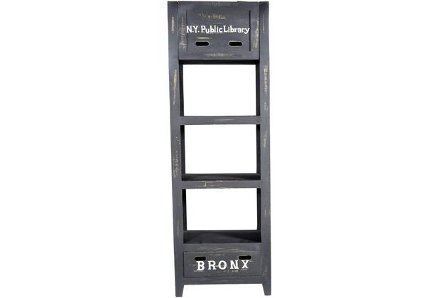 SIT BRONX Regal 1 Schublade, 1 Klappe antikschwarz