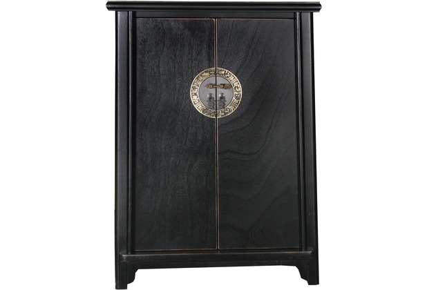 SIT-Möbel CHINESE Schrank 2 Türen schwarz