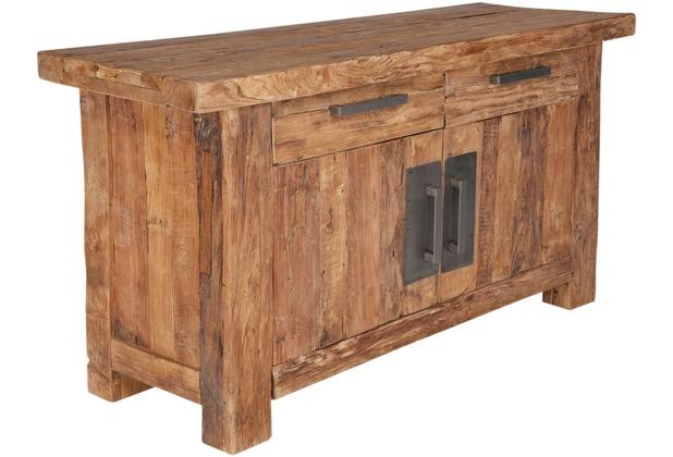 SIT CORAL Kommode 2 Schubladen, 2 Holztüren natur