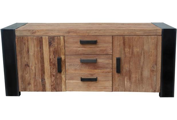SIT CROCO Sideboard 2 Türen, 3 Schubladen Antikfinish