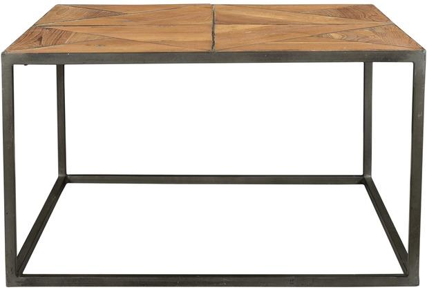 SIT CROSS Couchtisch Holz natur, lackiert, Metall antik-grau