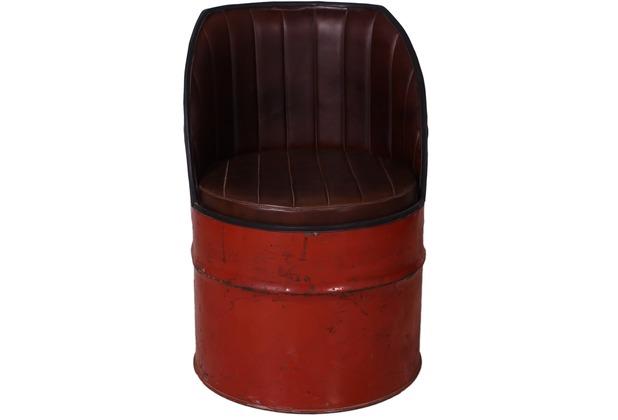 SIT-Möbel DRUMLINE Sessel rot, Sitz + Rücken braun