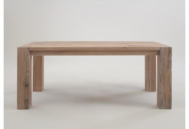 SIT FAUSTO Tisch sichtbare Stollen white wash 200 cm