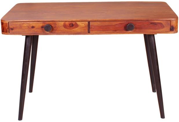 SIT KNOB Schreibtisch 2 Schubladen natur, Beine antikschwarz