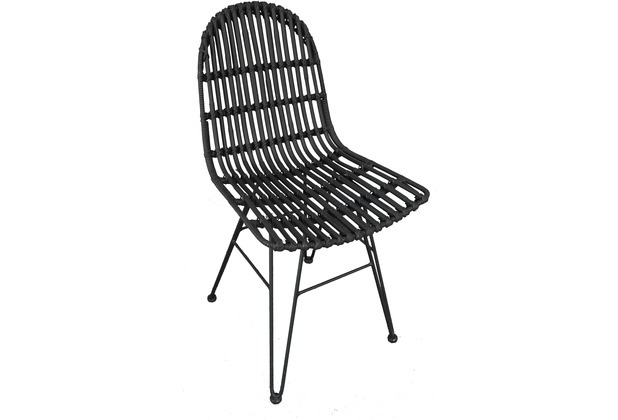 SIT RATTAN Stuhl schwarz