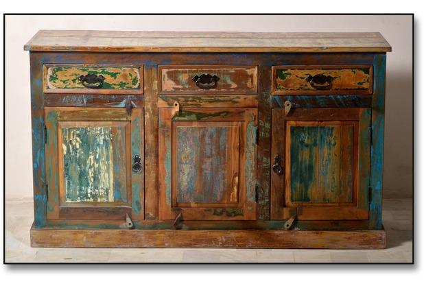 SIT RIVERBOAT Sideboard 3 Türen, 3 Schubladen bunt