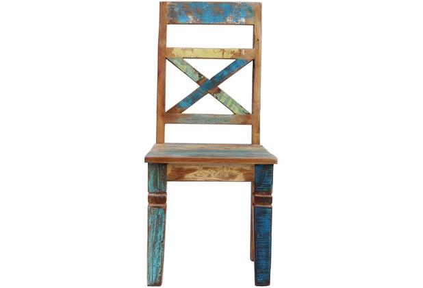 SIT-Möbel RIVERBOAT Stuhl, 2er-Set Brettsitz bunt