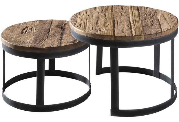 SIT ROMANTEAKA 2-Satz-Tisch Gestell schwarz, Platte natur