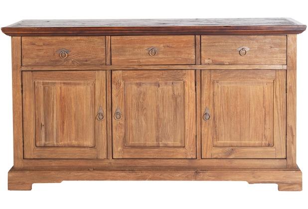 SIT SEADRIFT Sideboard 3 Schubladen, 3 Türen natur, Platte kolonialfarbig