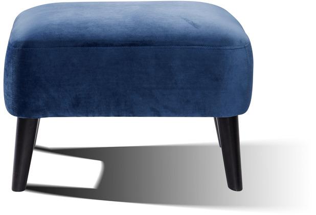 SIT SIT4SOFA Fußhocker blau Bezug blau, Beine schwarz