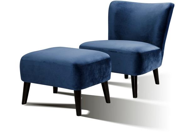 SIT SIT4SOFA Sessel blau Bezug blau, Beine schwarz