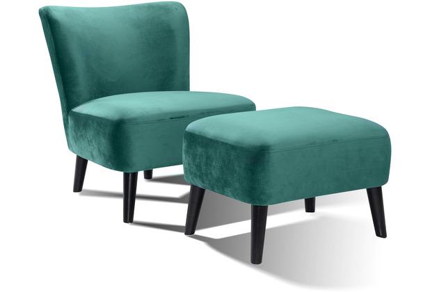 SIT SIT4SOFA Sessel grün Bezug grün, Beine schwarz