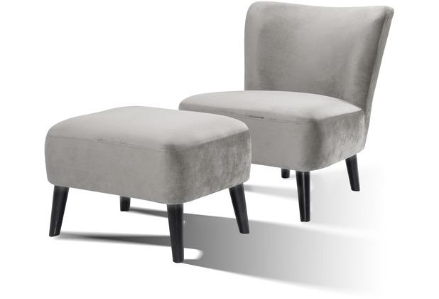 SIT SIT4SOFA Sessel hellgrau Bezug hellgrau, Beine schwarz