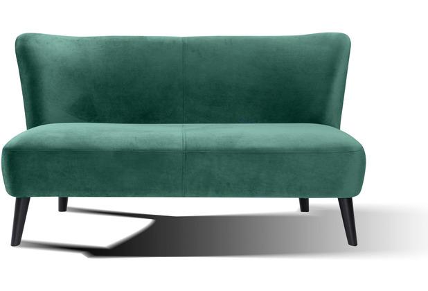 SIT SIT4SOFA Sofa 2-Sitzer grün Bezug grün, Beine schwarz