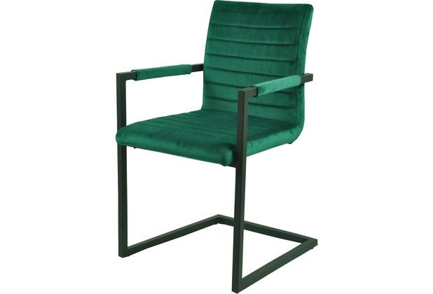 SIT SIT&CHAIRS Armlehnschwingstuhl, 2er-Set grün Gestell schwarz, Bezug grün