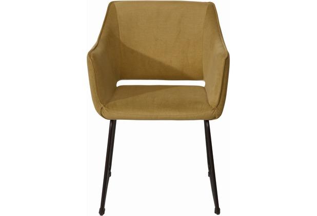 SIT SIT&CHAIRS Armlehnstuhl, 2er-Set Bezug Tom Tailor grün Gestell schwarz. Bezug grün