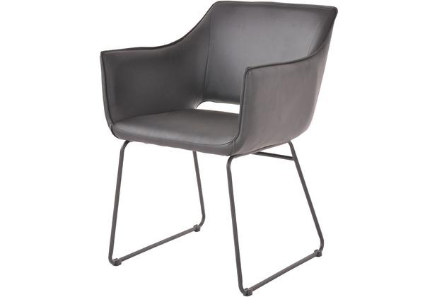 SIT SIT&CHAIRS Armlehnstuhl, 2er-Set schwarz Gestell schwarz, Bezug schwarz