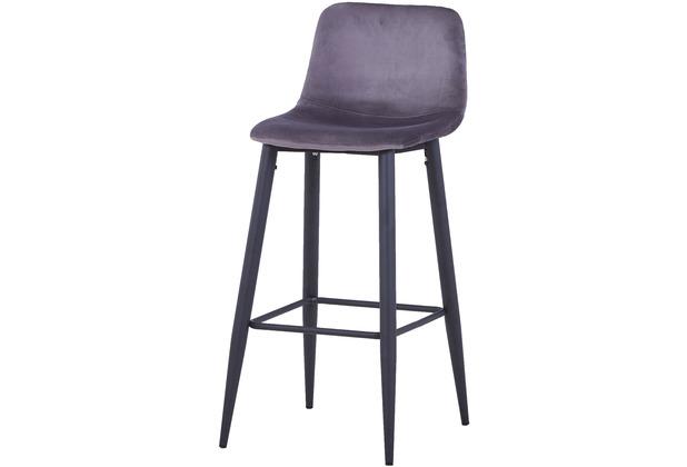 SIT SIT&CHAIRS Barhocker dunkelgrau Gestell schwarz, Bezug dunkelgrau
