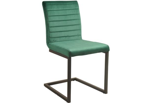 SIT SIT&CHAIRS Schwingstuhl, 2er-Set grün Gestell schwarz, Bezug braun